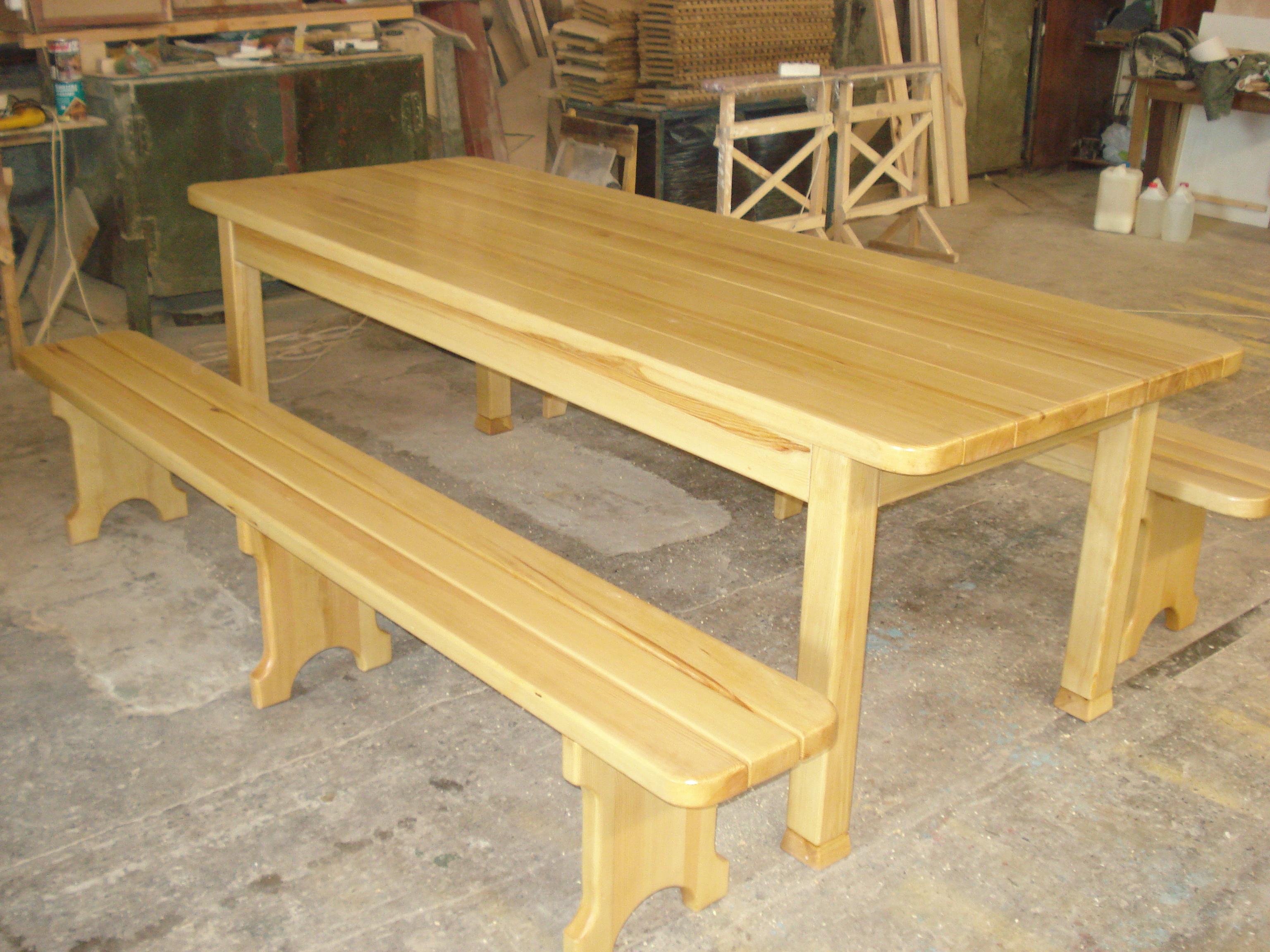 Сделать стол скамейку из досок своими руками